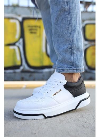 Chekich CH075 ıpekyol Beyaz Taban Erkek Ayakkabı BEYAZ / SıYAH Renkli